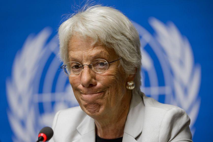 Carla Del Ponte, ici il y a trois ans à Genève, participera encore à la session du Conseil des droits  de l'Homme en septembre à Genève avant de s'en aller.