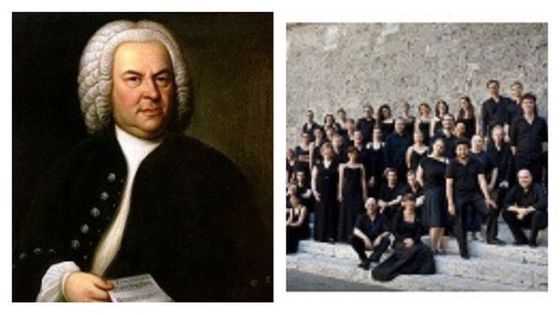 Johann Sebastian Bach (portrait de Elias Gottlob Haussmann, 1746) et le Collegium Vocale Gent