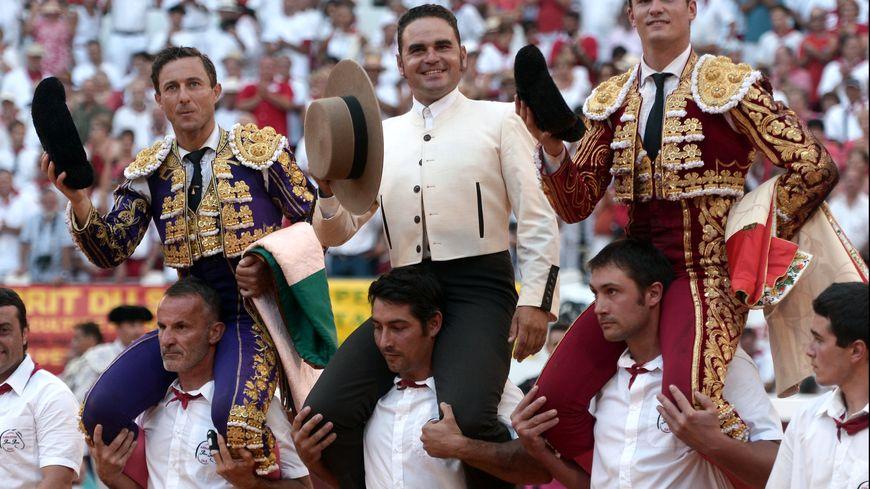 Rafelillo, Luque et Curro Sanchez, mayoral de  Pedraza de Yeltes