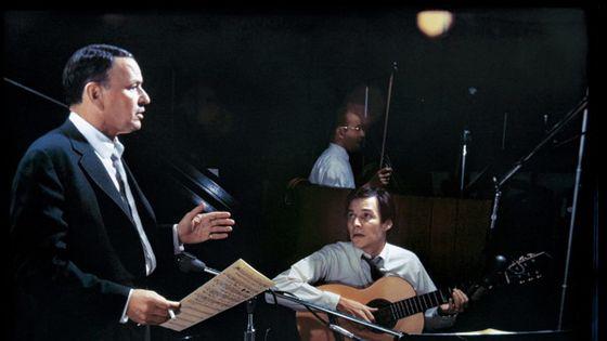 Frank Sinatra et Antonio Carlos Jobim en studio