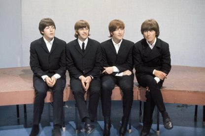 Les quatre Beatles Paul McCartney, Ringo Starr, John Lennon et George Harrison en 1966