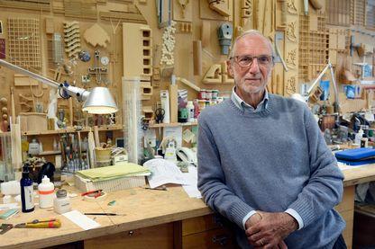 L'architecte italien Renzo Piano dans son atelier à Paris le 7 mai 2015.