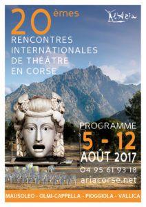 Les rencontres Internationales de Théâtre en Corse 2017.