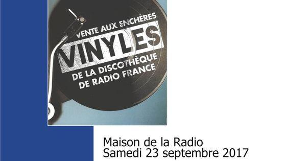Vente aux enchères vinyles Radio France