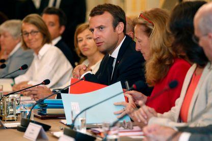Emmanuel Macron préside le conseil des ministres de rentrée le 28 août 2017