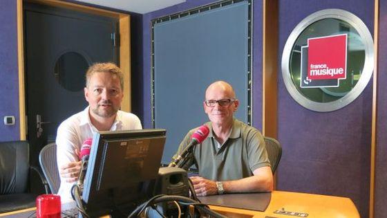Benjamin François et Joël Suhubiette au studio 142 de la Maison de la Radio.