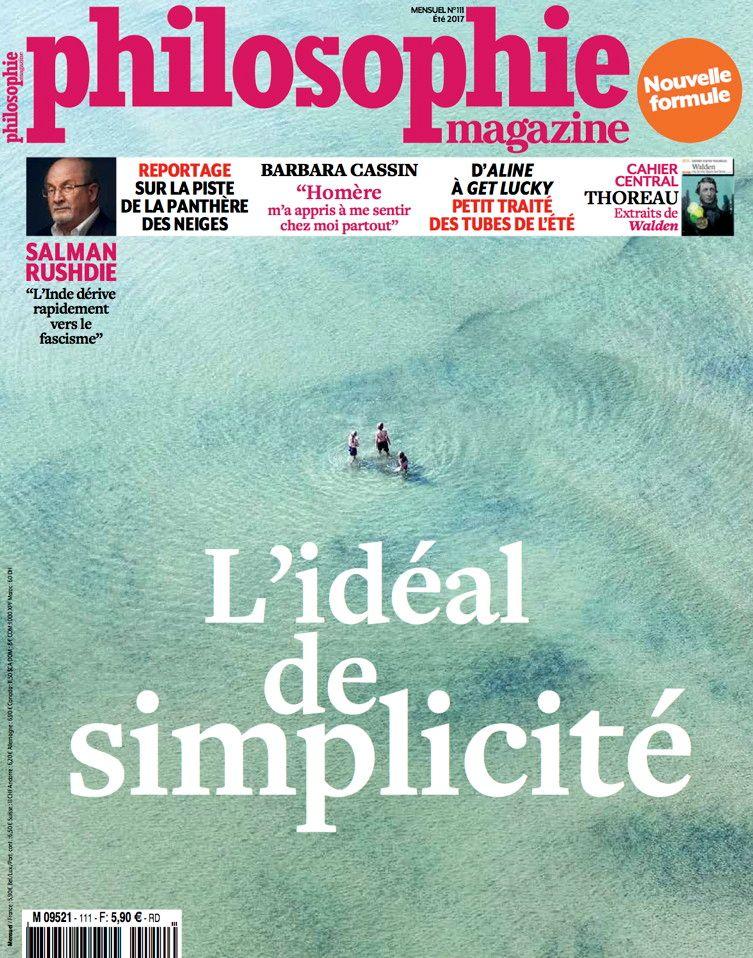 Couverture Philosophie Magazine Été 2017