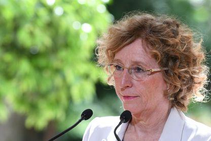 La ministre du travail Muriel Pénicaud, conférence de presse sur les ordonnances de réforme du code du travail à Matignon - 31 août 2017