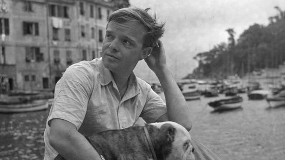 Truman Capote withe his dog