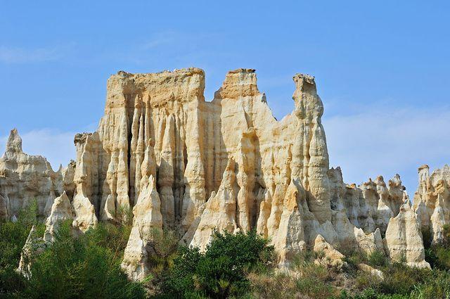 L'étrange formation rocheuse de l'Ille-sur-Têt dans les Pyrénées Orientales
