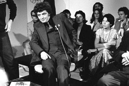 Jean-Patrick Manchette sur le plateau d'Apostrophe en 1979