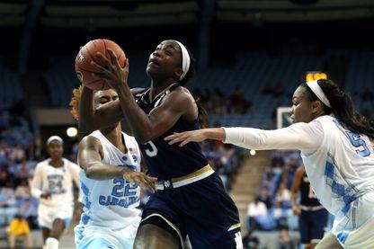 Match de basketteuses entre Universités états-uniennes