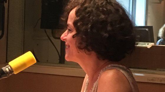Agnès Desarthe au micro de Yvan Amar