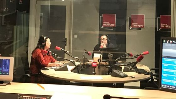 Florence Malgoire au micro de Renaud Machart à la Maison de la Radio le 05 août 2007