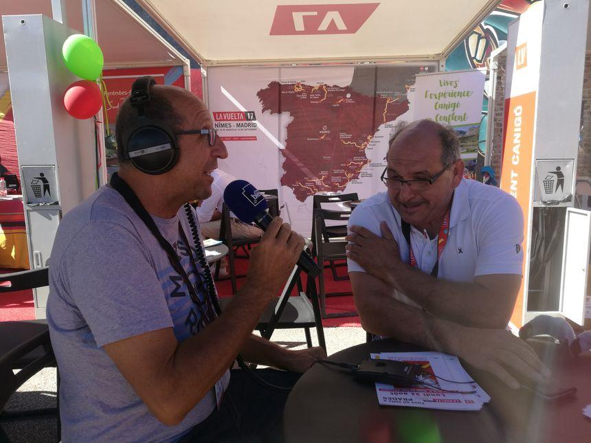 José Montessino, le président de l'Office de tourisme Conflent-Canigou, avec Philippe Anglade