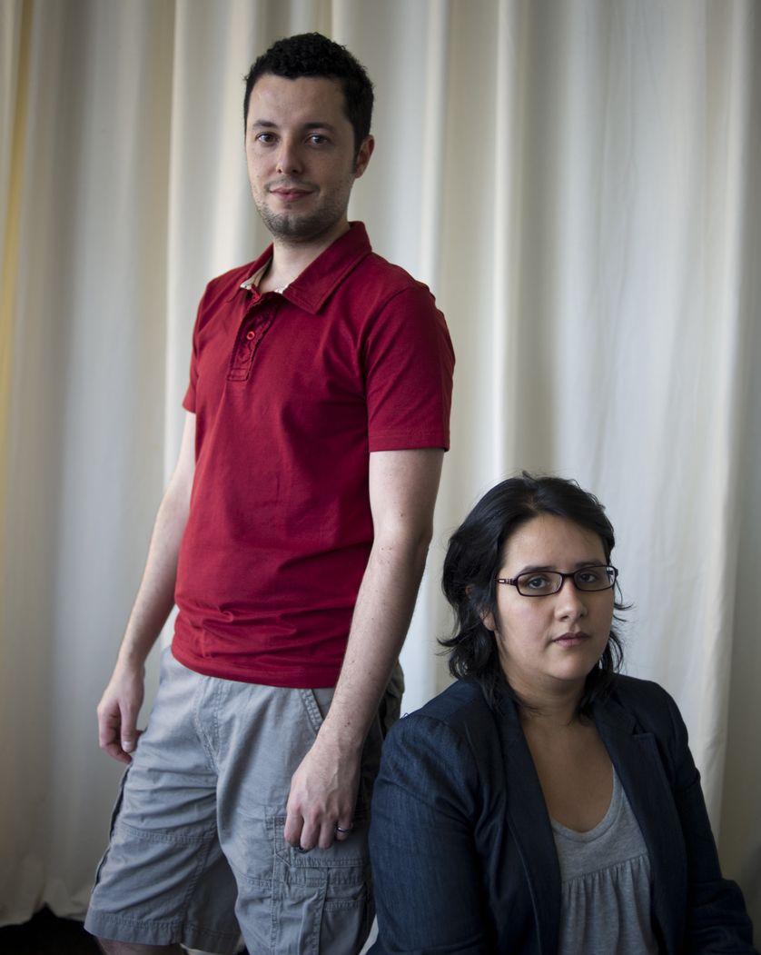 """Marco Dutra et Juliana Rojas, réalisateurs du film brésilien """"Les Bonnes Manières"""" qui a obtenu le Prix Spécial du Jury du Festival  de Cinéma de Locarno 2017."""