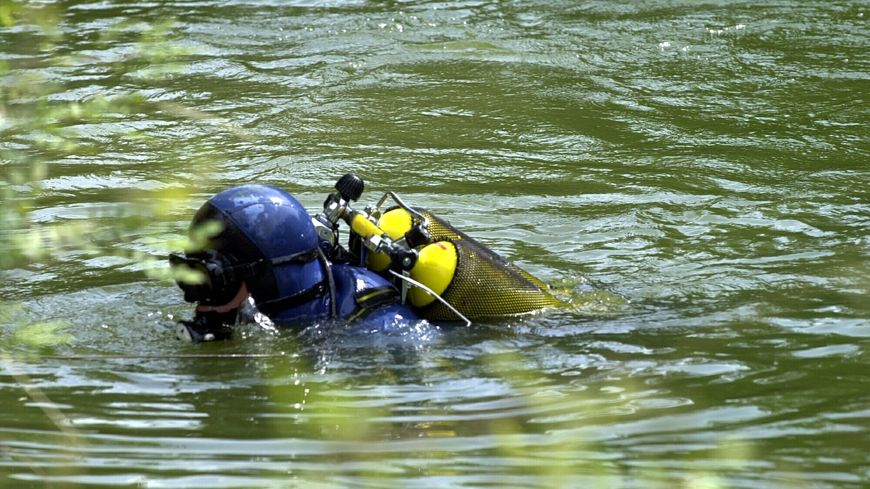 Les plongeurs de la gendarmerie ont découvert la voiture au fond de l'étang du Bignon - illustration