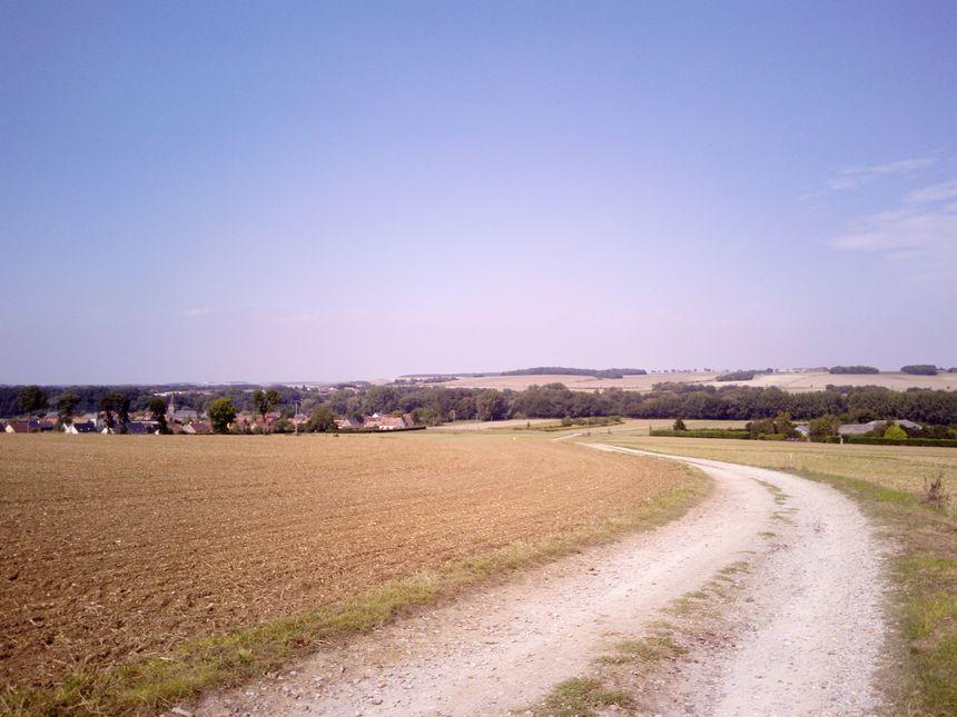 Le poulailler est situé sur les hauteurs du village de Hailles