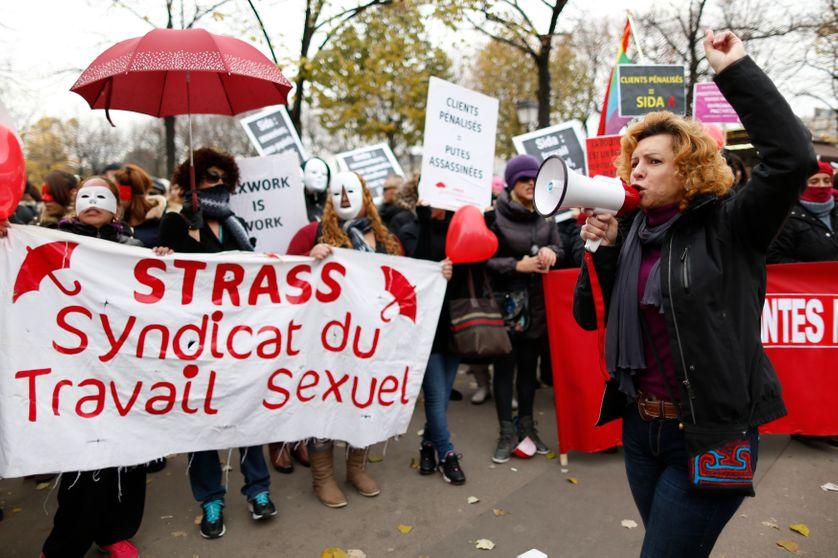 Manifestation d'associations défendant les droits des travaill.eur.ses du sexe à Paris en 2013.