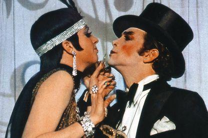 """Liza Minelli et Joel Grey dans """"Cabaret"""" de Bob Fosse en 1972"""