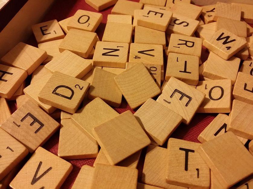 Des lettres de Scrabble