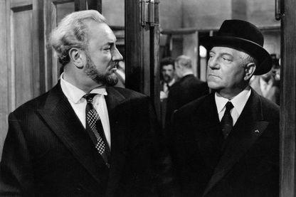 """Pierre Brasseur et Jean Gabin dans """"Les grandes familles"""" de Denys de la Patellière en 1958"""