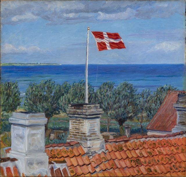 Johannes Larsen Été, soleil et vent Kerteminde 1899 huile sur toile