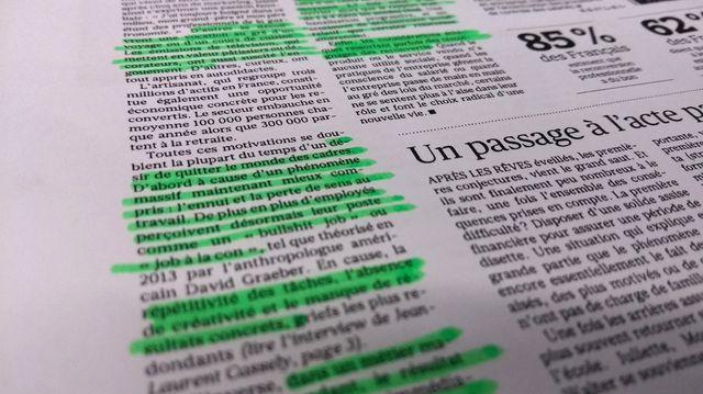 Extrait de l'article du Figaro sur les cadres - photo par Olivier Bénis