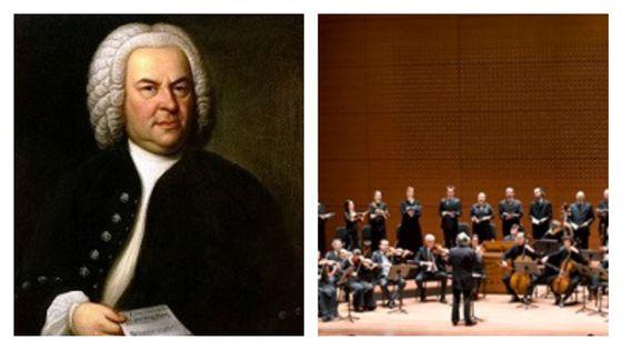 Johann Sebastian Bach (portrait de Elias Gottlob Haussmann, 1746) et le Collegium Vocale Gent © Nanette Melville