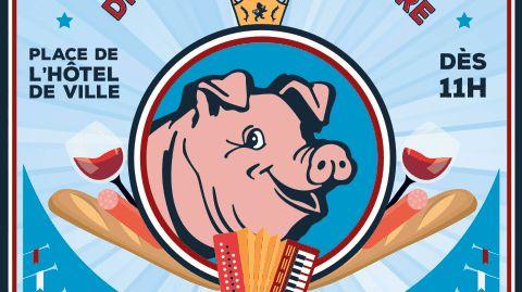 L'affiche prévue pour la fête du cochon 2017 à Hayange