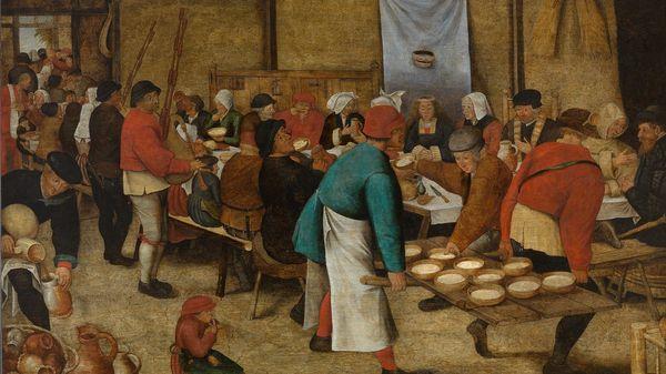 """Quelle musique voyez-vous sur """"Repas de Noces dans la grange"""" de Pieter Brueghel (après 1616) ?"""