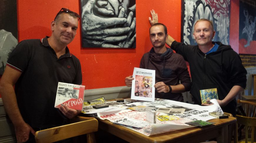 Guillaume Liberge, Jérôme Roquain et Reynald Lucas comptent sur leurs compétences complémentaires pour créer un fonds d'archives de la musique sarthoise.