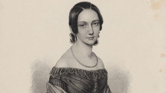 Portrait de Clara Wieck vers 1838 (BnF)