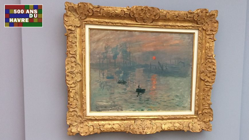 Impression Soleil Levant de Monet, tableau peint en 1872 au Havre