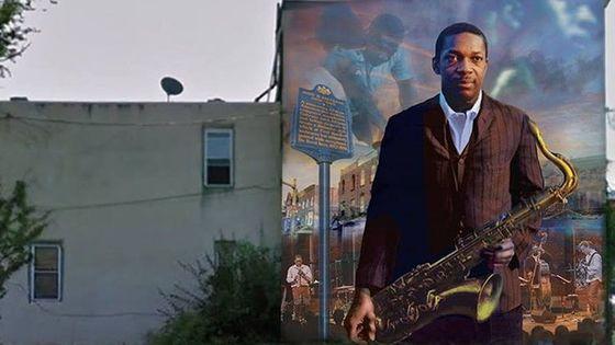 Le mural John Coltrane