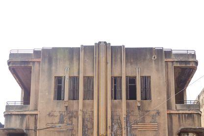 Vieux cinéma abandonné de Tripoli au Liban