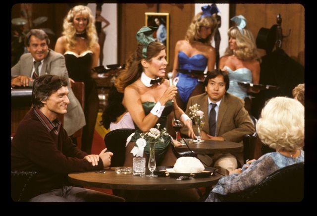 Hugh Hefner et Carrie Fischer dans le Playboy show sur ABC, 9 novembre 1982