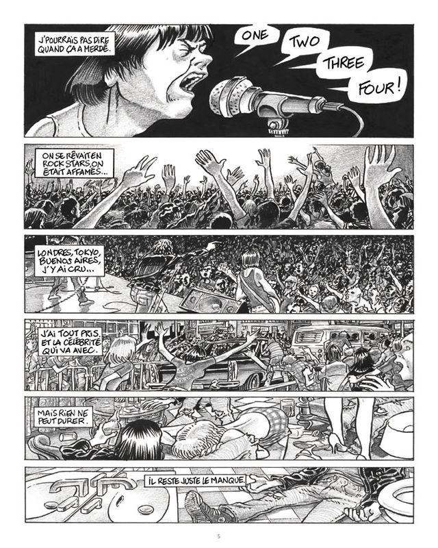 Planche de la BD 1,2,3,4 Ramones