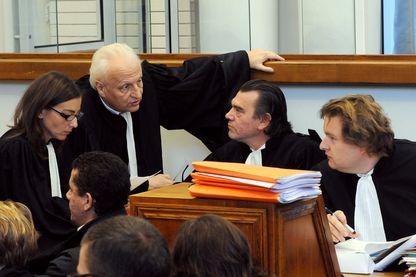Raphael Thery (D) et Frank Berton (2eD), les avocats de David Da Costa