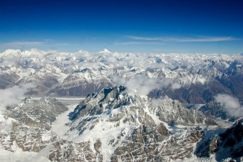 Le massif du Karakoram entourant le K2 (Nord Pakistan)
