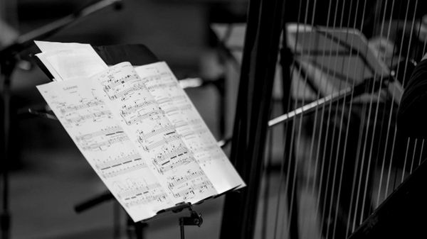 La partition Clockworks de Fabien Cali, lors de l'enregistrement au studio 106