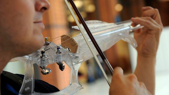 Le 3D Varius. Laurent Bernadac est le créateur du violon en résine 3D VARIUS fabriqué avec une imprimante 3D