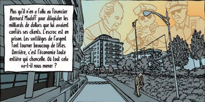 """Extrait de la bande dessinée de Florent Papin et  Etienne Appert, """"Lehman, la crise et moi"""", éd. La Boîte à Bulles"""