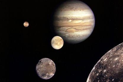 Images prises par Voyager de Jupiter