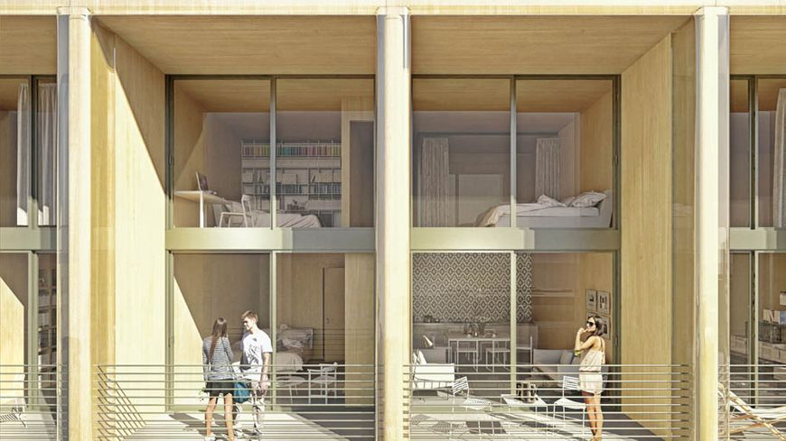 La tour en bois rassemblera 105 logements.