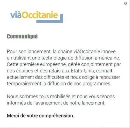 le communiqué de Vià Occitanie