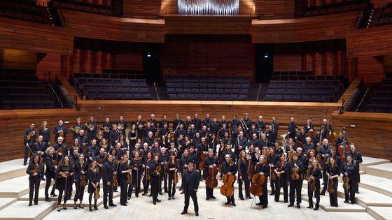 Les musiciens de l'Orchestre Philharmonique de Radio France et Mikko Franck