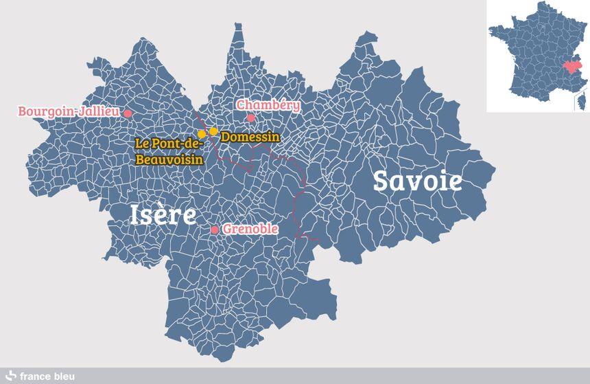 Domessin (Savoie), tout près du Pont-de-Beauvoisin (Isère)