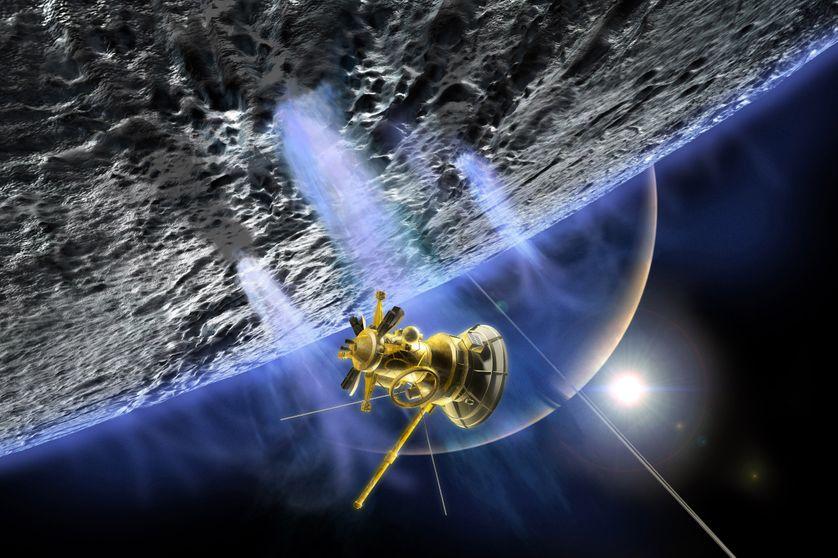 La sonde Cassini et les geysers d'Encelade