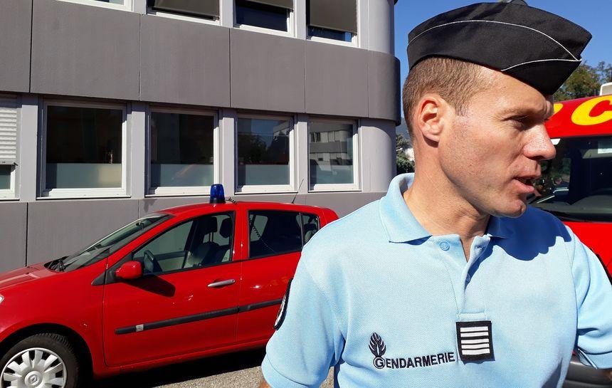 Le colonel Yves Marzin, commandant du groupement de gendarmerie de l'Isère